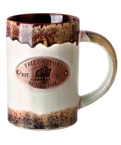 Yellowstone Copper Medallion Mug Green