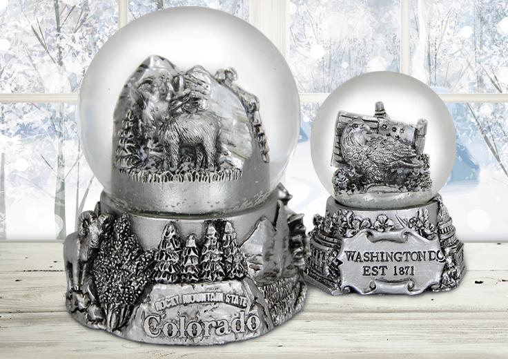 Americaware Snow Globes