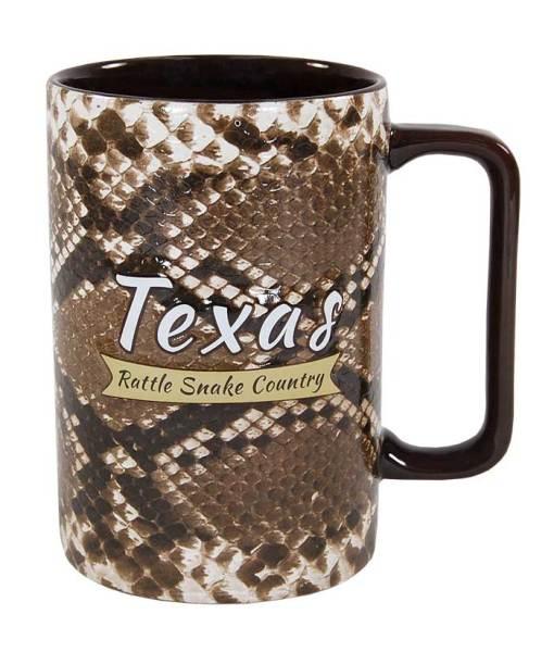 Texas Snake Skin Novelty Mug