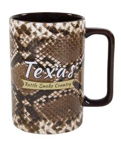 Texas Snake Skin Novelty Mug