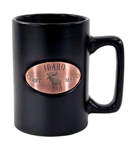 Idaho Black Matte Copper Medallion Mug