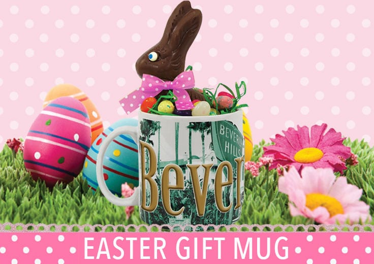 Beverly Hills Mug with Easter Candy