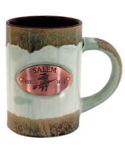 Salem Green Glazed Medallion Mug