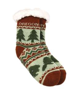 Oregon Kids Tree Pattern Socks