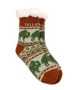 Yellowstone Kids Bison Pattern Socks