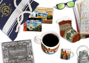 Souvenir bags mugs frames