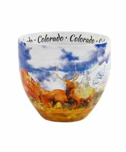 Colorado designed watercolor mug middle
