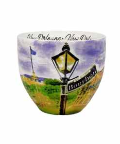 New Orleans watercolor mug middle view