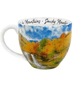 Smoky Mountains watercolor mug front view