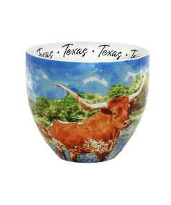 Texas watercolor mug middle view