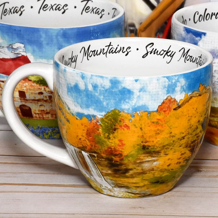 Watercolor designs on Mugs