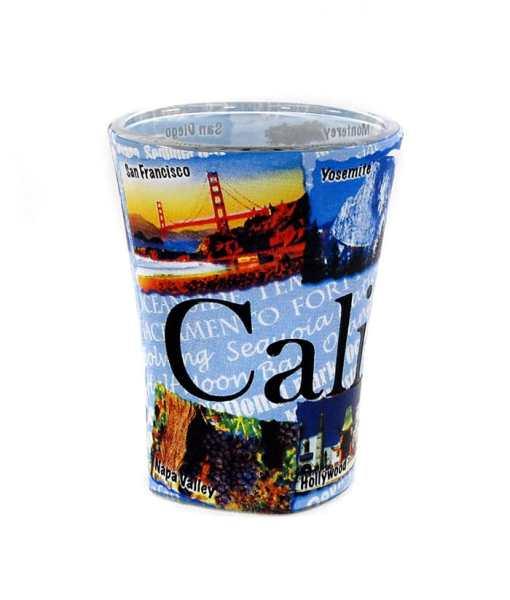 California Shot Glass Front