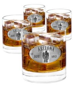 Arizona 4 Whiskey Glasses