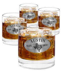 Austin 4 Whiskey Glasses