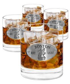 Boston 4 Whiskey Glasses