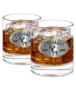 Two Colorado Whiskey Glasses