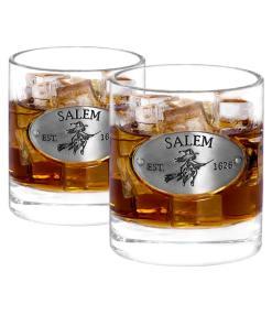 Two Salem Whiskey Glasses