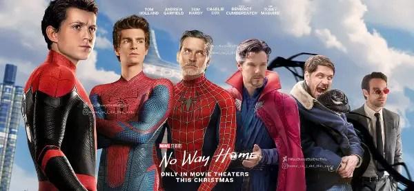 spider man no way home horizontal subway poster by iwasboredsoididthis def70lw fullview 1
