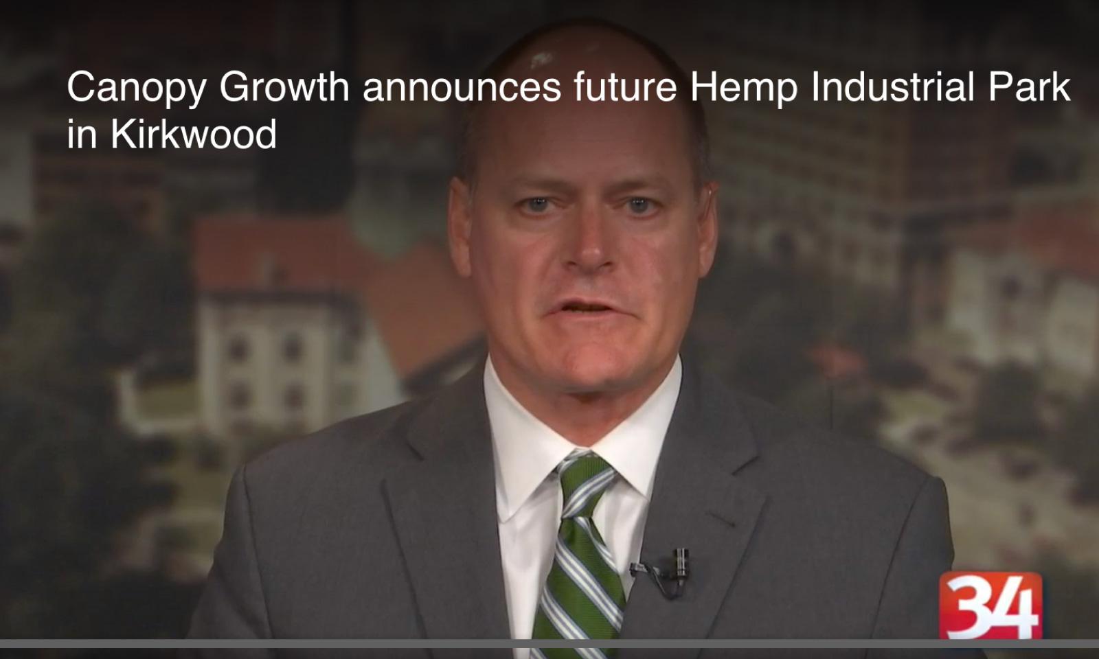 Canopy Growth announces future Hemp Industrial Park in Kirkwood NEWS
