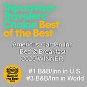 2020 TripAdvisor Best Bed and Breakfast Award | Americus Garden Inn near GSW