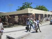 Wandgemälde zum Unabhängigkeitskampf Haitis