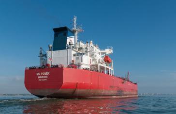 Ein Öltanker im Maracaibo-See in Venezuela. Die USA wollen Erdöllieferungen von Venezuela nach Kuba unterbinden