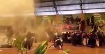 Am 21. September wurde eine Versammlung der MAS-Jugend in El Alto mit Tränengasgranaten angegriffen (Screenshot)