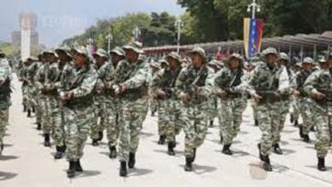 Üben die Landesverteidigung: Soldaten in Venezuela