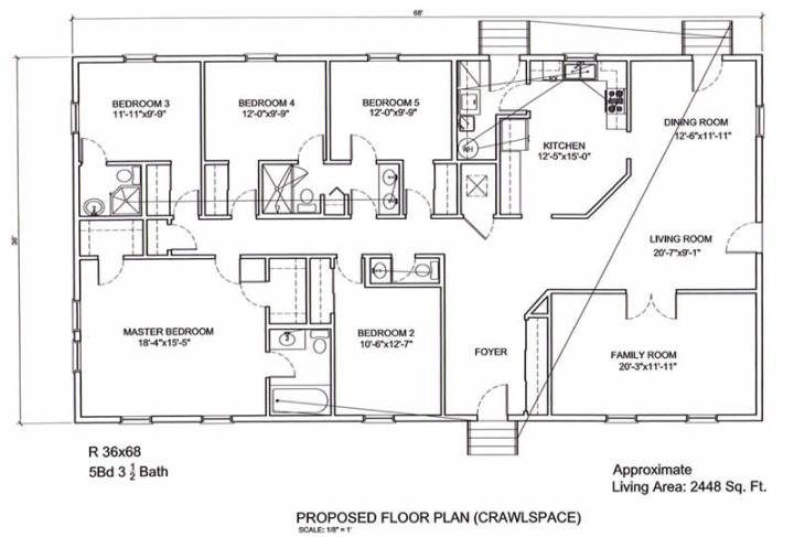 3 bedroom 5 bath ranch house plans for South carolina home plans