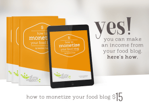 how to monetize a food blog