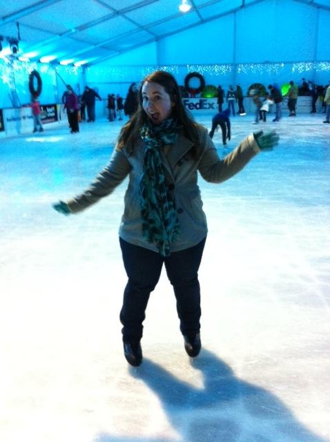 ice skating fun at zoo