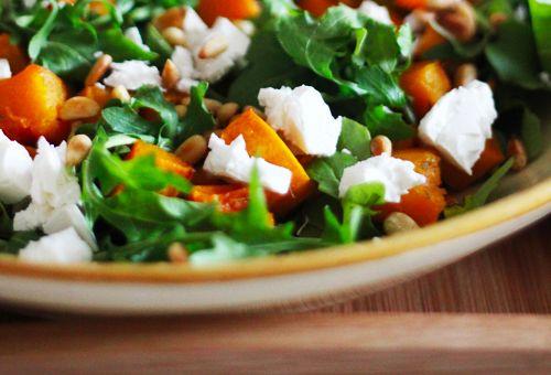 pumpkin and arugla salad
