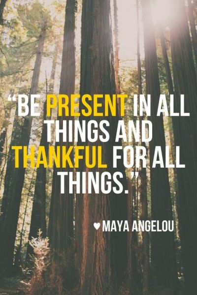 present and thankful