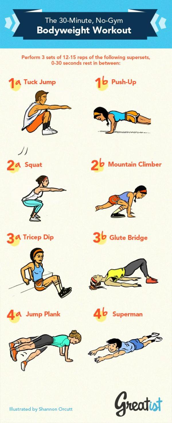 30-Minute No-Gym Bodyweight Workout