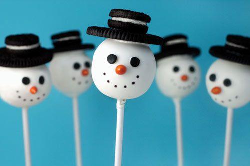 bakarella snowman christmas cake pops