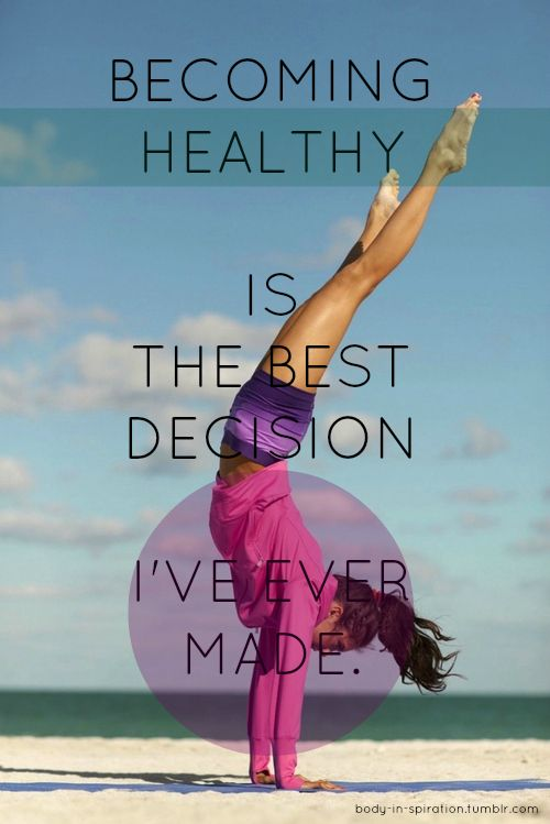 fitness motivation quote - best decision