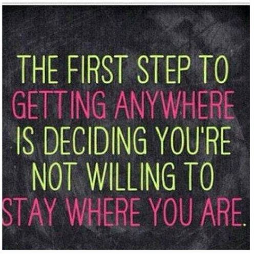fitness motivation quote - decide to move