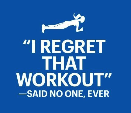 fitness motivation quote - i regret that workout