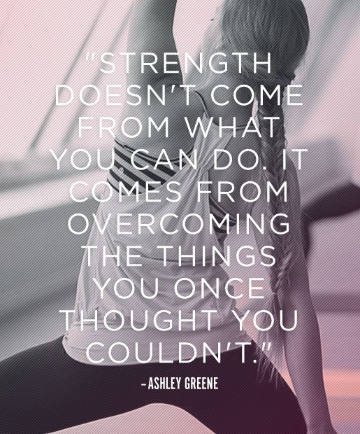 fitness motivation quote - strength