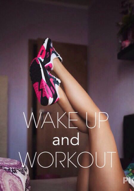 fitness motivation quote - wake up workout