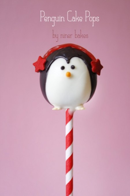 penguin cake pop