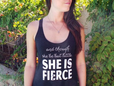 fitness motivation clothes - fierce workout tank
