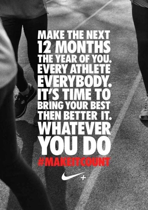inspiring new years resolutions - athlete