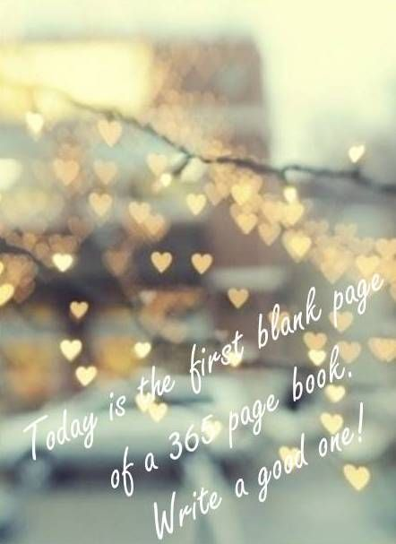 inspiring new years resolutions - first day