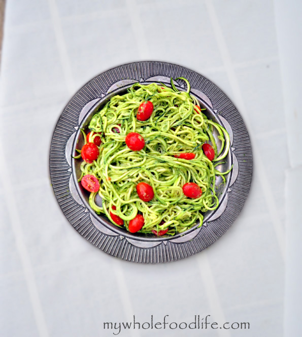 healthy advocare recipes - zucchini pesto pasta