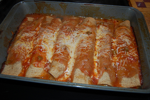 healthy recipe - Spinach and Turkey Enchiladas