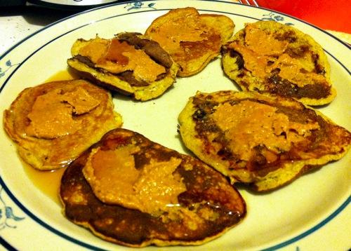 healthy recipe - banana egg pb2 pancake recipe