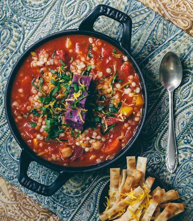 couscous recipes - mediterranean couscous stew