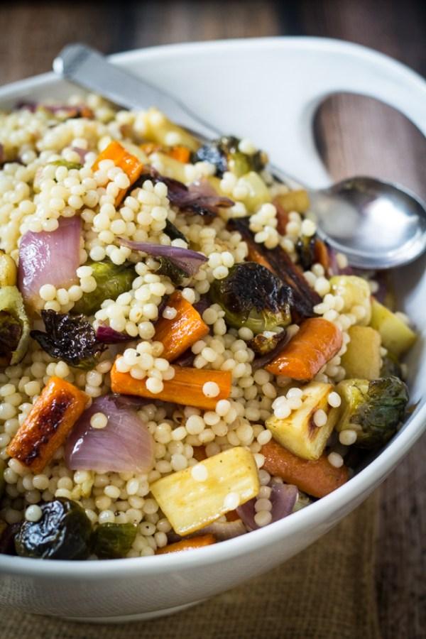 couscous salad recipe - roasted vegetable couscous salad