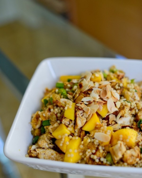 couscous salad recipes - curry mango chicken couscous